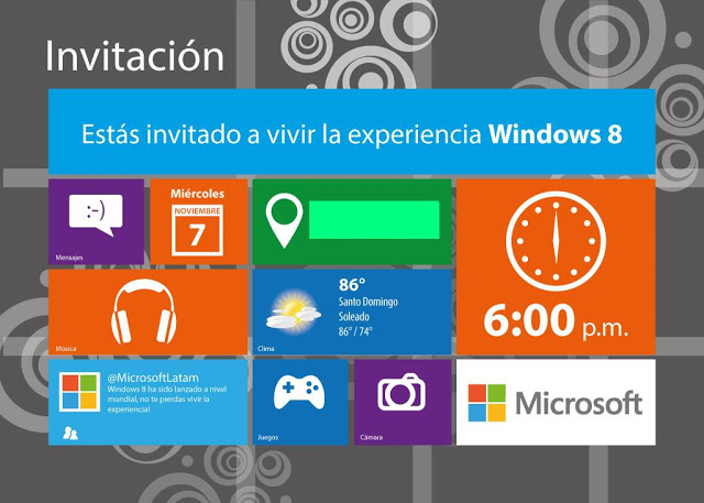 Exhibición de equipos con Windows 8 en República Dominicana