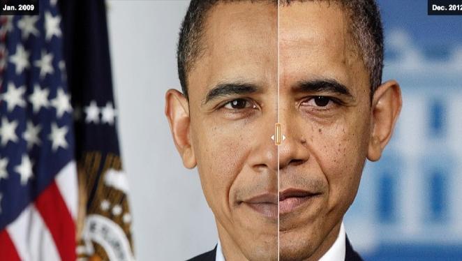 #Foto: Cómo Obama ha envejecido en cuatroaños